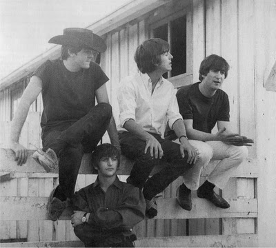 The Beatles at the Pigman Ranch in 1964