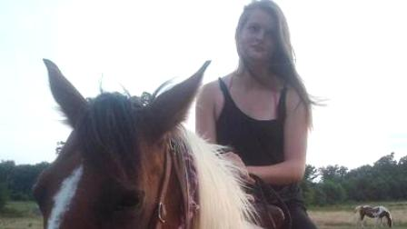 Khighla Parks on her horse