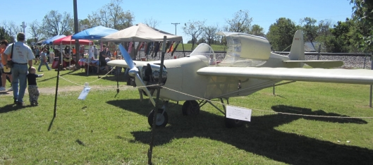 This nifty airplane was on display to remind people that Kosh once had an airport and former President Harry Truman landed there on a campaign tour back in the day. The plane is a 1960 Stits SA6B Serial #one. Kosh Trading Post provided the plane.