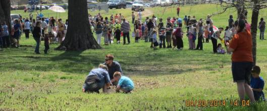 Hunting eggs is fun for the whole family.