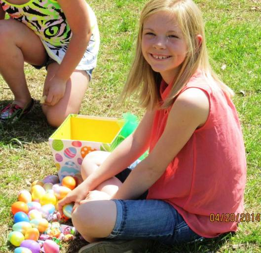 Happiness is finding a big pile of eggs. (Hill 'n Holler staff photo)