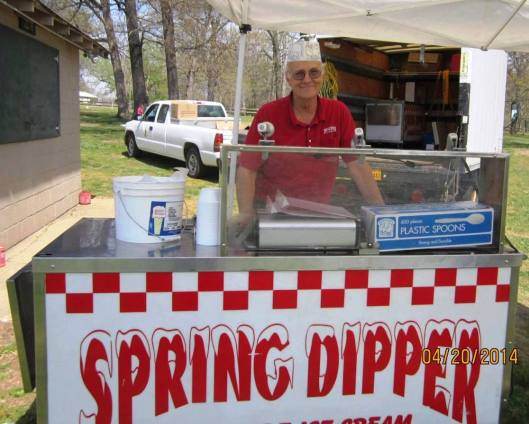 And the sweetest  part of the Scramble was an ice cream cone from Spring Dipper of Mammoth Spring, and West Plains, Mo.