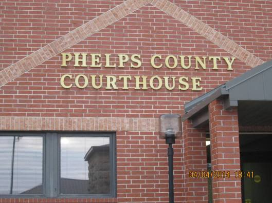 Phelps County Courthouse in Rolla, Mo., where a mistrial was declared Friday. (Hill 'n Holler staff photo)