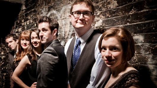 "The Second City Touring Company cast of  ""Happily Ever Laughter"""