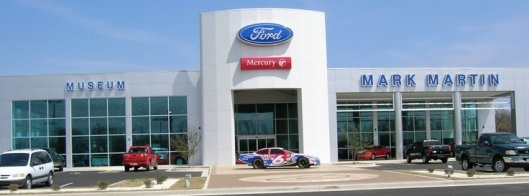 Mark Martin Museum and Ford dealership in Batesville