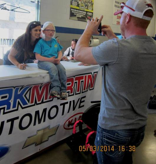 Nine year-old Madison Morris of Pleasant Plains, Ark., got to see Danica. (Staff photo by Caroll Lucas)