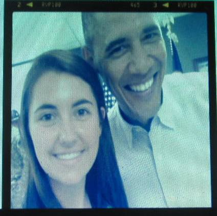 Casey Williams and President Obama