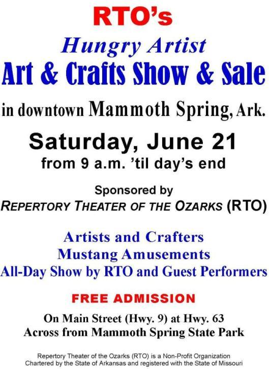 RTO Art & Crafts Show FLYER 2a