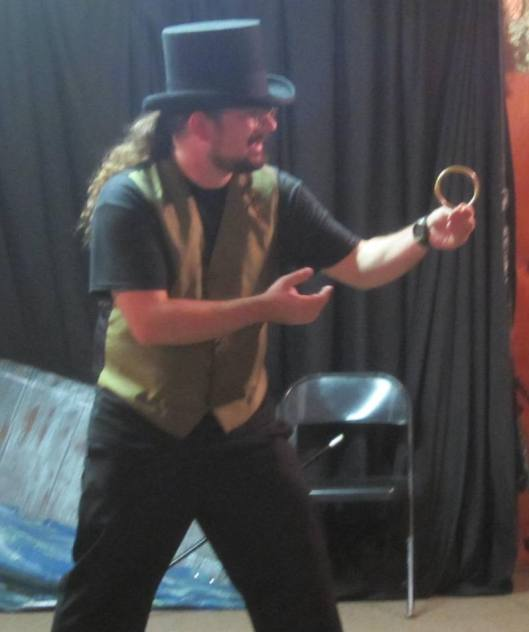 """Magician Cedric Morley shows his stuff during the first performance of """"Vaudeville Reboot"""" July 12."""