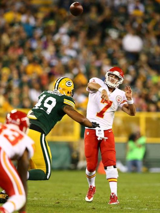 Rookie Chiefs quarterback Aaron Murray showed his stuff later in the game. (Kansas City Chiefs photo)
