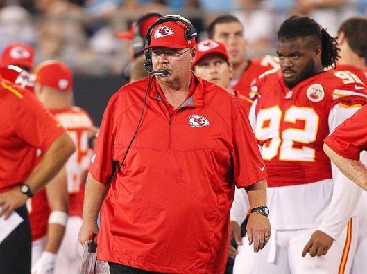 Chiefs Coach Andy Reid was not happy Sunday night. (Kansas City Chiefs photo)