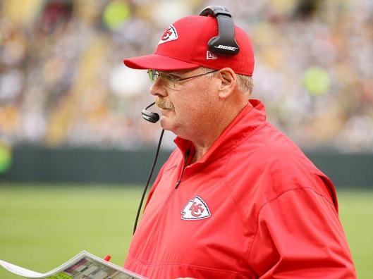 Once again Chiefs Head Coach Andy Reid was not happy with his team's performance. (Kansas City Chiefs photo)