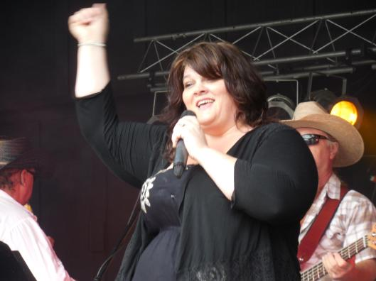 Tanya Williams, lead singer with the Roadrunnerz Band.