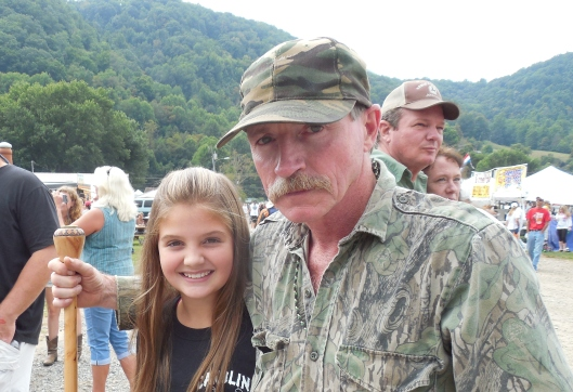 """McKenna Browning (left) meets Mark Rogers of the Discovery Channel reality series """"Moonshiners."""""""