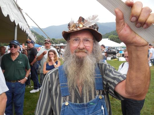One of the many fans who turned out for Hillbilly Woodstock.