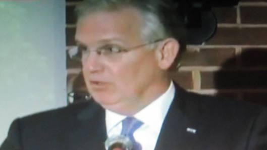 Missouri Gov. Jay Nixon addresses a press conference in St. Louis Thursday afternoon.