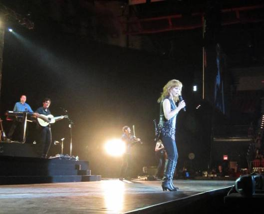 Reba McEntire -- a flash of sequins (Staff photo by Caroll Lucas)
