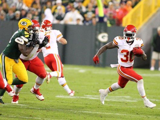 Chiefs running back Joe McKnight scored the second and final touchdown for Kansas City. (Kansas City Chiefs Photo)