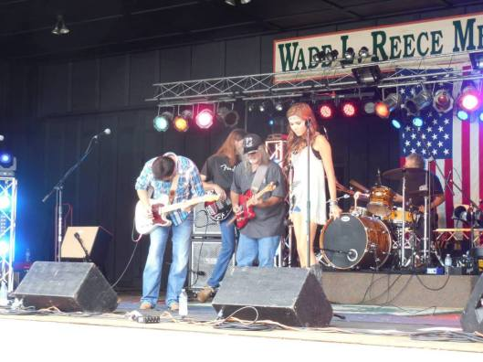 Kendra Welch and her band