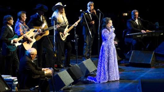 Loretta Lynn and her band. (ASU photo by Andrew Ferguson)