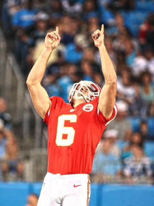 Chief Ryan Succop celebrates after kicking a 54-yard field goal. (Kansas City Chiefs photo)