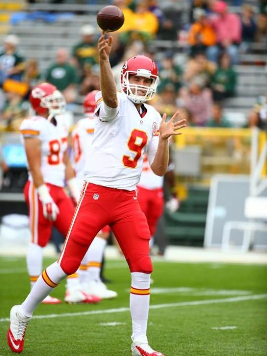 Rookie Chiefs quarterback Tyler Bray came in after Chase Daniel started the game. (Kansas City Chiefs photo)