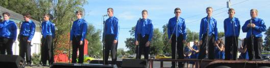 Boys from the Alton High School Choir singing at the festival. (staff photo)