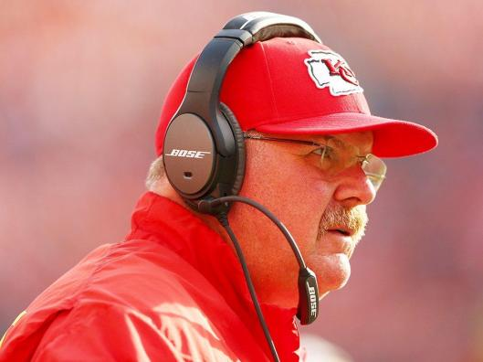 Chiefs Head Coach Andy Reid Sunday had some things to be happy about, some things not so happy. (Kansas City Chiefs photo)