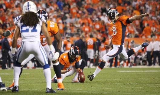 Bronco kicker Britton Colquitt  (Denver Broncos photo)
