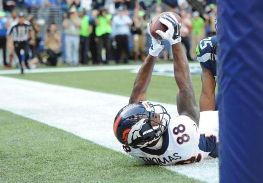 Bronco wide receiver Demaryius Thomas scored the two-point conversion which tied the game. (Denver Broncos photo)