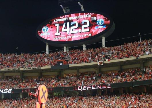 Chiefs fans again broke the record for loudest stadium Monday night. (Kansas City Chiefs photo)