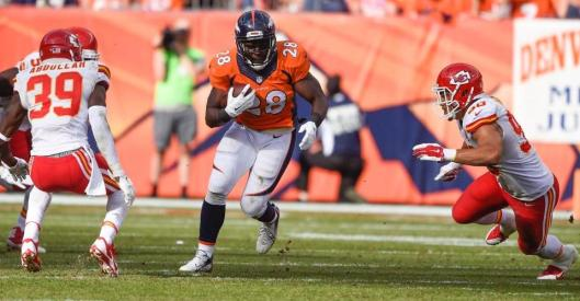 Broncos running back Montee Ball runs with the ball (Denver Broncos photo)
