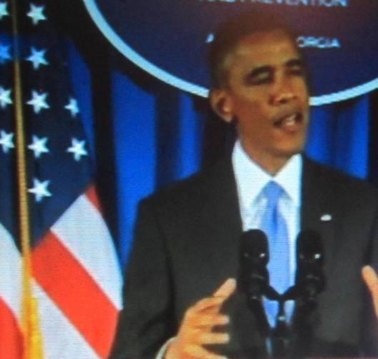 President Barack Obama spoke on the topic of Ebola in Atlanta Tuesday.