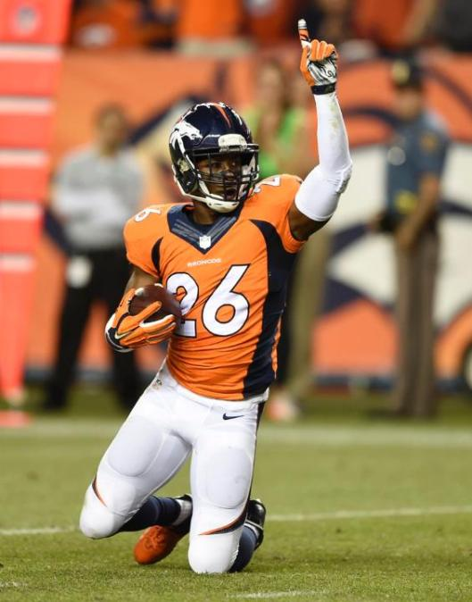 Bronco safety Rahim Moore made two interceptions in the game against the Colts.  (Denver Broncos photo)