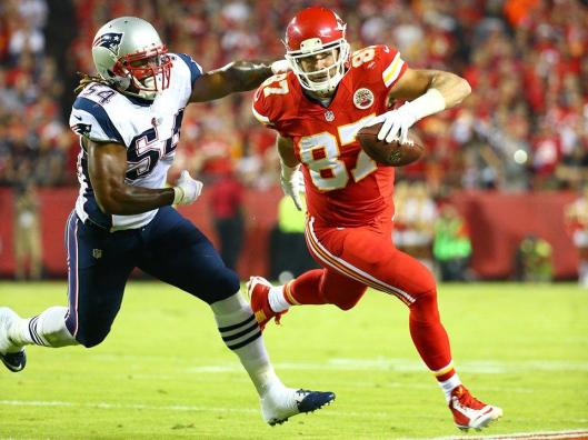 Chiefs star rookie Travis Kelce again scored a touchdown Monday night. (Kansas City Chiefs photo)