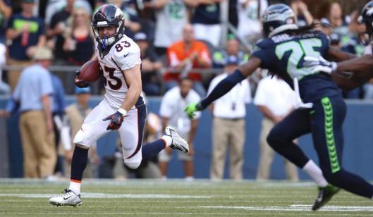 Bronco wide receiver Wes Welker was back in the game Sunday. (Denver Broncos photo)