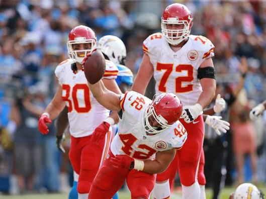 Chiefs running back Anthony Sherman scored Kansas City's second touchdown Sunday.  (Kansas City Chiefs photo)