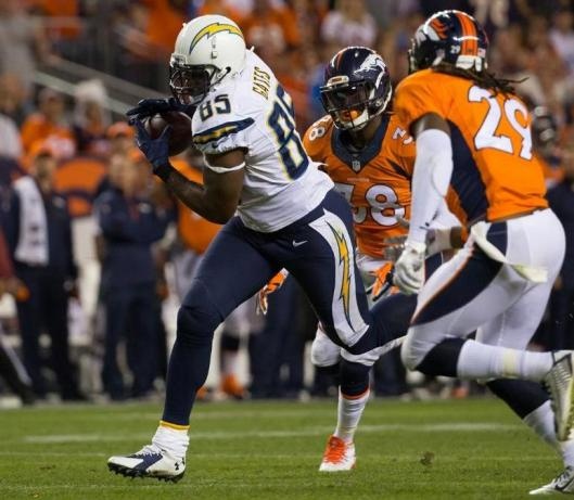 Charger Antonio Gates scored two touchdowns Thursday. (San Diego Chargers photo)