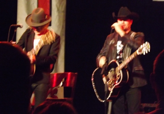 Big Kenny (left) and John Rich take the stage at the KTTS 94.7 FM Radio Springfield Country Music Awards Show Oct 21. (Hill 'n Holler staff photo by Mariann Hyslop)