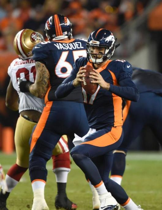 Brock Osweiler was the Denver quarterback in the final minutes of the game Sunday. (Denver Broncos photo)