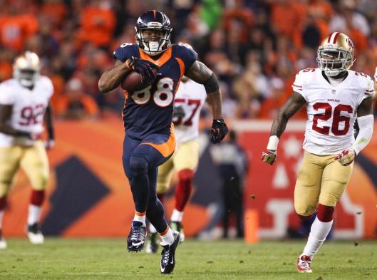 Bronco wide receiver Demaryius Thomas scored the record breaking touchdown Sunday. (Denver Broncos photo)