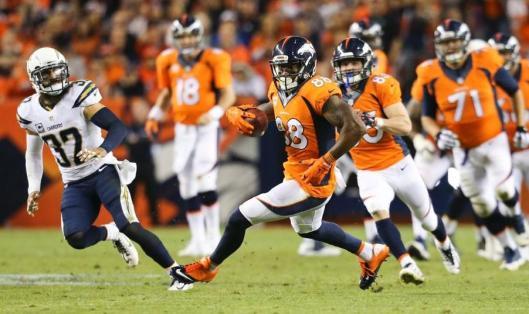 Bronco Demaryius Thomas had 105 receiving yards Thursday. (Denver Broncos photo)