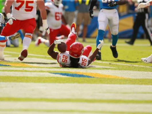 Jamaal Charles made the first touchdown against the Chargers Sunday.  (Kansas City Chiefs photo)