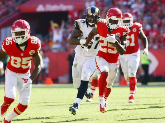 Chiefs running back Jamaal Charles scored two touchdowns Sunday. (Kansas City Chiefs photo)
