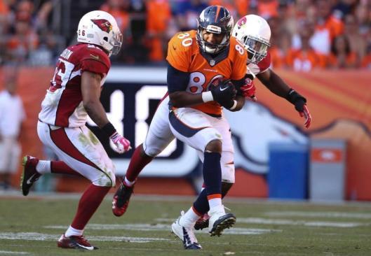 Broncos tight end Julius Thomas scored the first Denver touchdown of the game Sunday. (Denver Broncos photo)