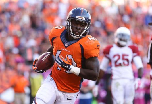 Juwan Thompson scored the Broncos' final touchdown. (Denver Broncos photo)