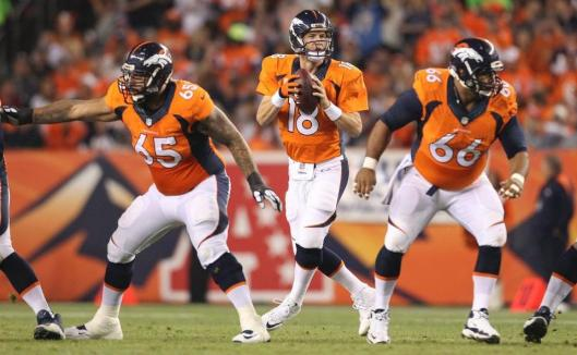 Broncos quarterback Peyton Manning is ready to pass the ball. (Denver Broncos photo)
