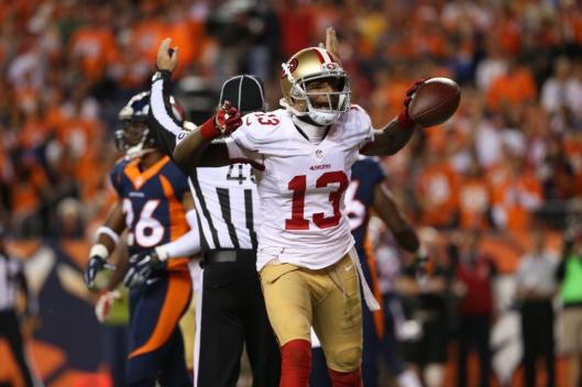 Wide receiver Stevie Johnson scored the 49ers' first touchdown Sunday. (San Francisco 49ers photo)