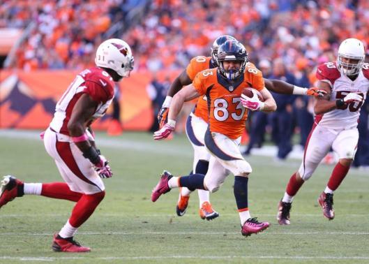 Bronco Wes Welker was back in the game Sunday. (Denver Broncos photo)