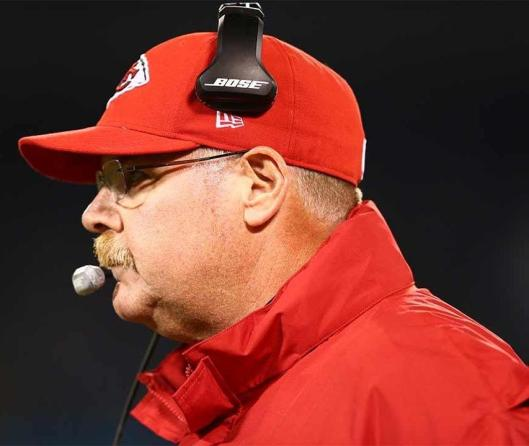 Kansas City Chiefs Head Coach Andy Reid looked grim Thursday night.  (Kansas City Chiefs photo)